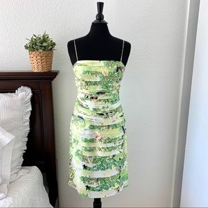 JS Collections Designer Tiered Midi Dress